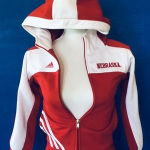 Adidas University of Nebraska Womens Hooded Jacket